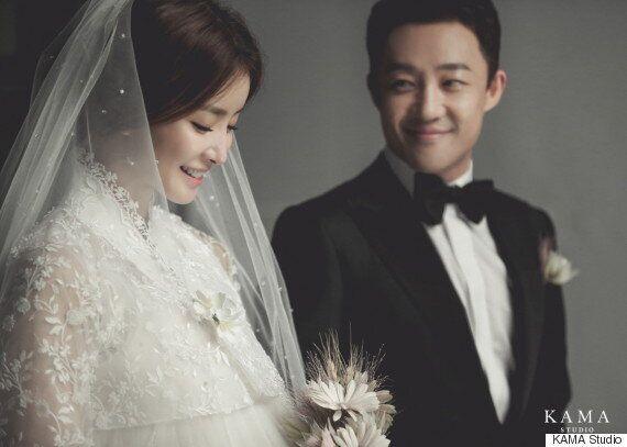 이시영이 웨딩화보와 남편을 공개했다(사진