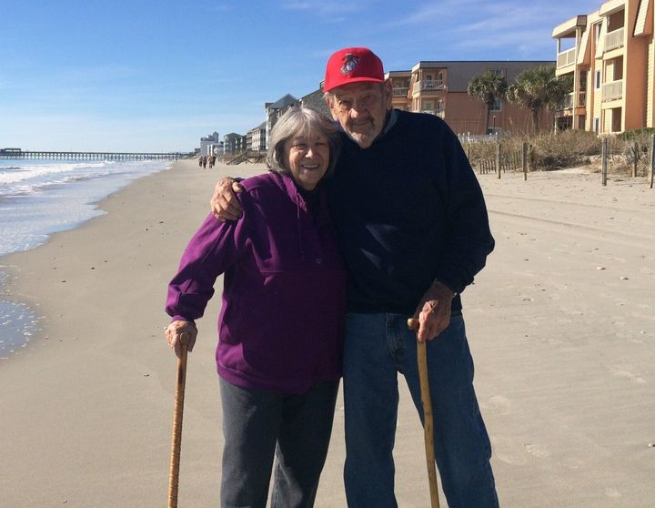 Ramona and Ed Grigg in 2017 in Garden City Beach, South Carolina, where they spend the winters.