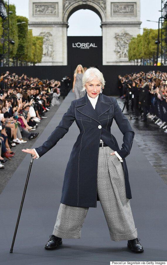 파리 패션위크 런웨이에 선 헬렌 미렌과 제인 폰다는 '걸크러시' 그