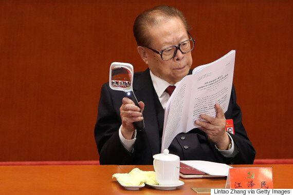 장쩌민 전 주석이 시진핑의 연설 도중 졸음을 참지