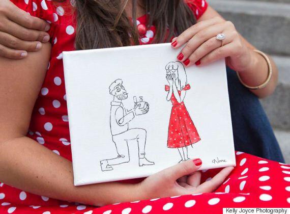 이 남자는 프러포즈를 위해 직접 그린 그림을 뉴욕 메트로폴리탄 미술관에