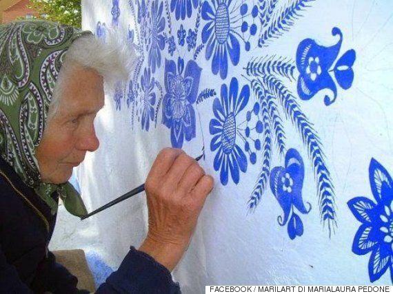 이 90세 할머니가 벽화를 그리는
