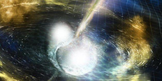두 별의 충돌에서 빛과 중력파가 동시에