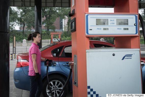 지금 북한에서 급유가 허용된 자동차의 차량번호는 따로
