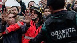 스페인 경찰이 카탈루냐 독립투표를