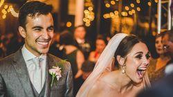 이 부부는 결혼식에 온 불청객과 가족이