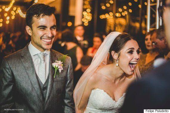이 부부는 결혼식에 침입한 불청객과 가족이