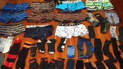 두 달간 남성 속옷을 50개나 훔친 도둑의