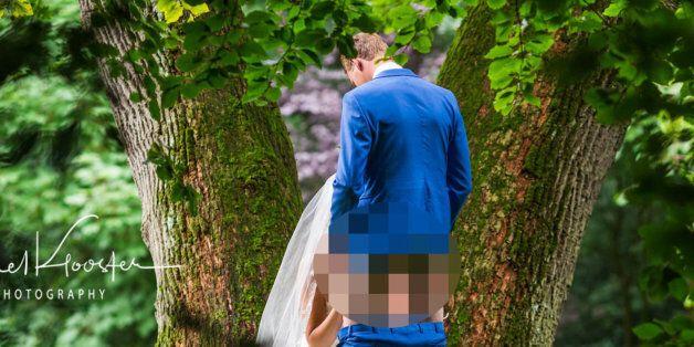 네덜란드 부부의 아슬아슬한 웨딩 사진이 논란을