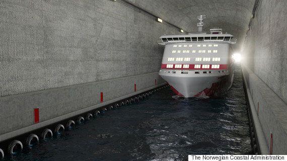 노르웨이에 건설하는 세계 최초 선박용 터널은 이렇게