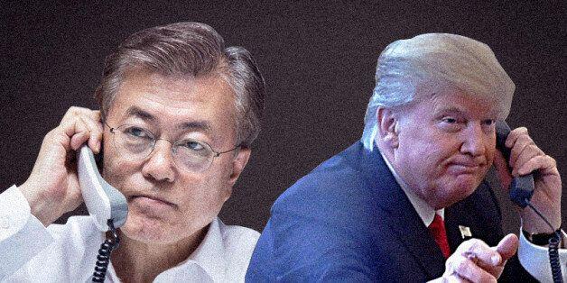 文대통령-트럼프 통화에서 나타난 북한 압박