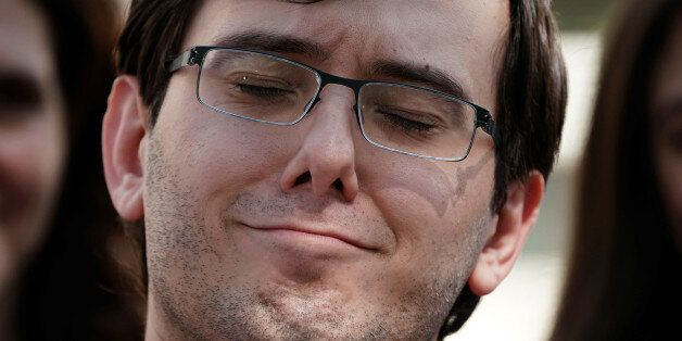 Former drug company executive Martin Shkreli exits U.S. District Court after being convicted of securities...