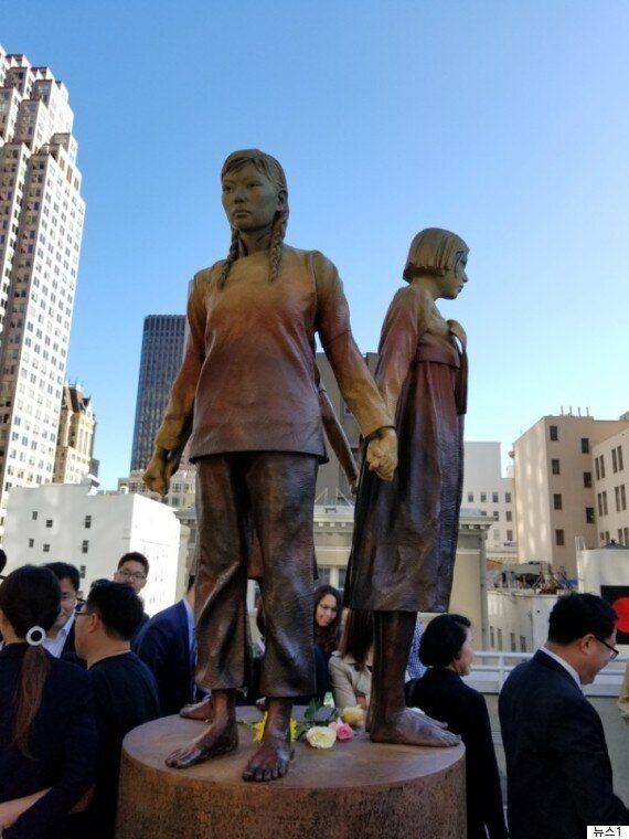 샌프란시스코에도 일본군 위안부 피해자 기림비가