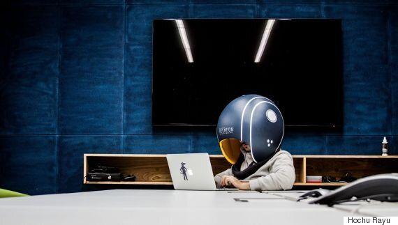 사무실 노동자를 위한 헬멧이