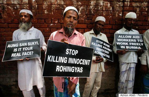 아웅산 수치가 미얀마 로힝야족 피난사태 책임을 '테러리스트'와 '가짜정보'에