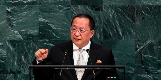 North Korea's Foreign Minister Ri Yong Ho addresses the 72nd session of the United Nations General assembly...