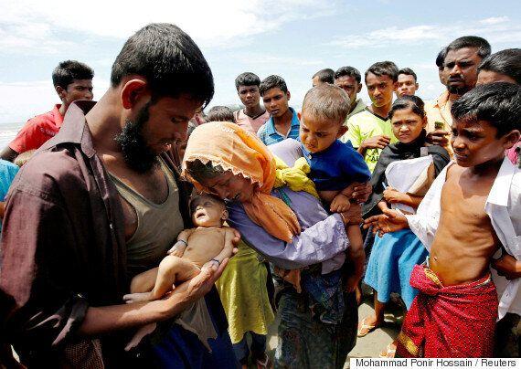 미얀마 로힝야족의 악화되는 위기를 보여주는 사진