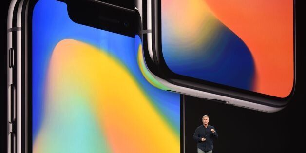 Senior Vice President of Worldwide Marketing at Apple Philip Schiller speaks about the iPhone X during...