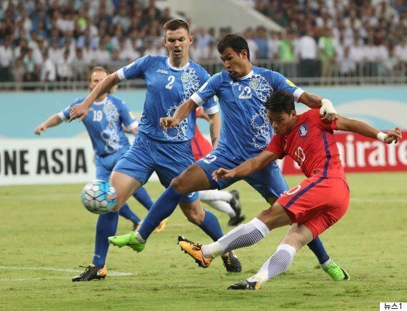 '골대 불운' 한국, 우즈벡 원정 0-0 무승부... 이란 덕에 월드컵 직행