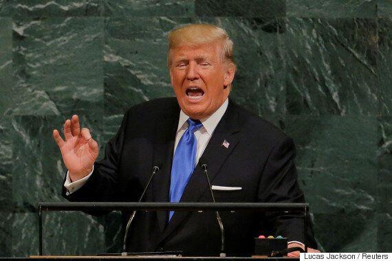 도널드 트럼프는 유엔에서 자기 지지층을 향해 연설한