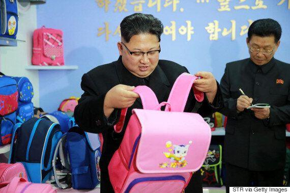 분홍색 가방 든 김정은의 사진이 공개되자 인터넷이