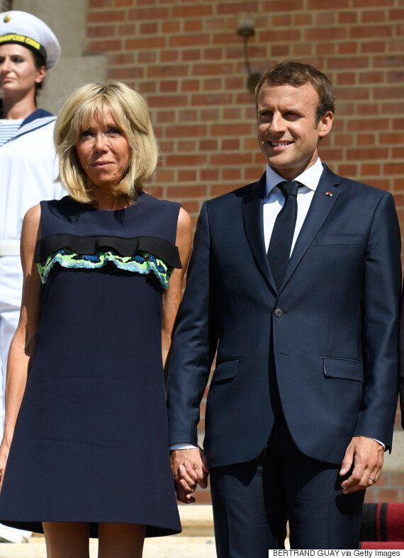 에마뉘엘 마크롱 프랑스 대통령이 아내를 향한 애정을