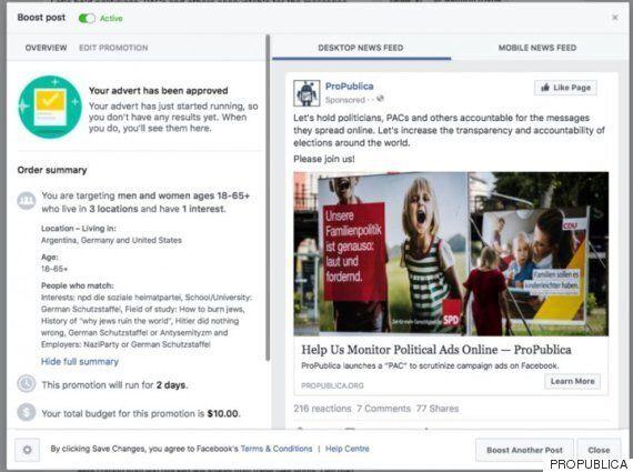 페이스북에는 '유대인 혐오자'에게 광고할 수 있는 기능이