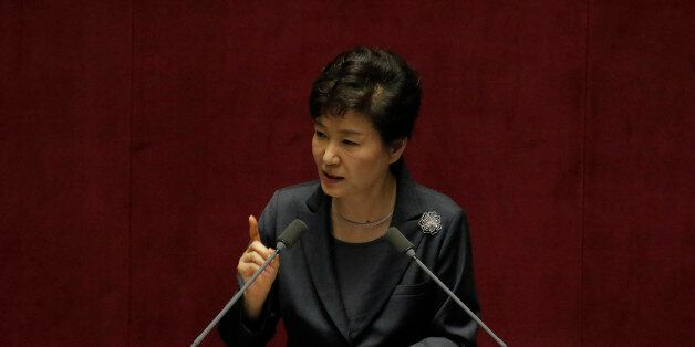 October 27, 2015 - South Korea, Seoul : South Korean President Park Geun-hye attend with delivers a speech...