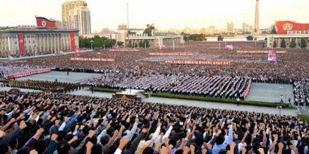 북한은 지금 반미 열기로 무척이나 뜨겁다 : 평양 10만 집회