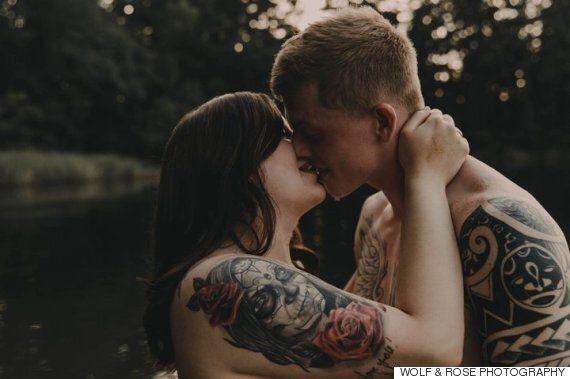 약혼자와 찍은 한 여성의 사진이 많은 이들에게 긍정의 메시지를