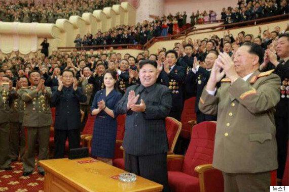 김정은이 6차 핵실험에 참여한 과학자들을 위한 축하파티를
