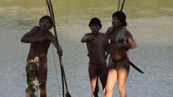 브라질의 채금꾼들이 원시부족 10명을