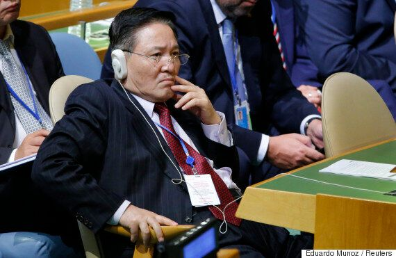 트럼프의 '북한 파괴' 연설을 맨 앞줄에서 지켜본 이 남성의