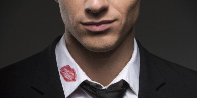 Man with lipstick on his