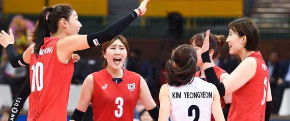 여자배구 대표팀이 중국을 꺾고 아시아선수권대회 3위를