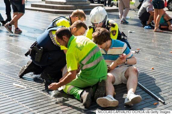 스페인 바르셀로나 '차량돌진 테러'로 13명이 숨지고 100여명이
