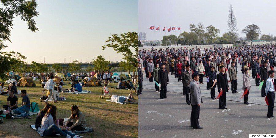 북한과 남한을 모두 여행한 외국인이 찍은 비교 사진