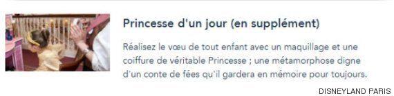 파리 디즈니랜드가 공주 체험을 신청한 소년의 참가를