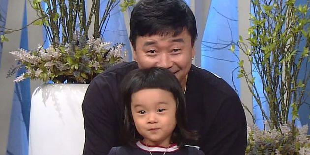 2017년 세 살 때 방송에 출연한