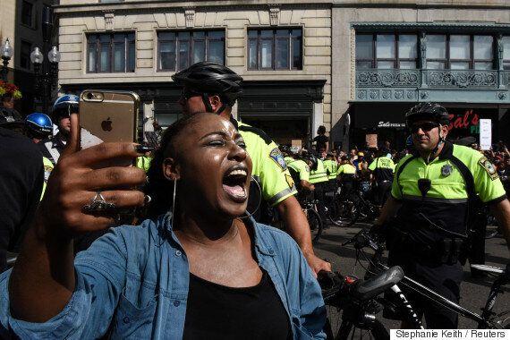 수많은 시민이 '백인 우월주의 반대' 시위에서 외친 말(화보,
