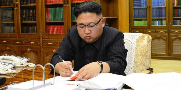 This picture from North Korea's official Korean Central News Agency (KCNA) taken on July 3, 2017 and...