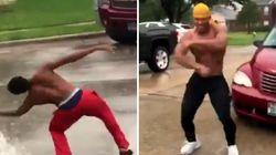 텍사스에서 뜬금없이 댄스 배틀이