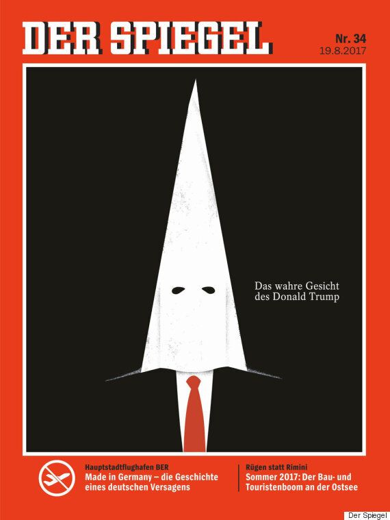 'KKK 모자 쓴 트럼프'가 독일 시사주간지 슈피겔 표지에