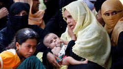 미얀마 정부군, 로힝야족 피난민에 기관총