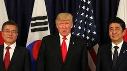 문재인 대통령과 아베 총리가 '북한 미사일'로 통화한