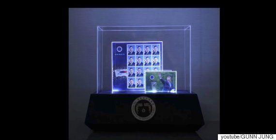 문재인 대통령 기념 우표로 만든 DIY 트로피가