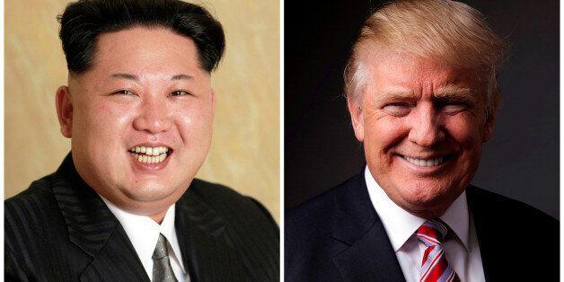 FILE PHOTOS: A combination photo shows a Korean Central News Agency (KCNA) handout of North Korean leader...