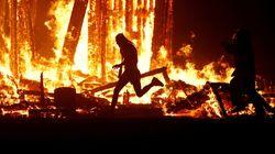 '버닝맨 페스티벌'에서 불 속으로 뛰어들어 사망한 남성의 신원이