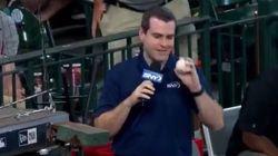 야구 중계방송 역사상 가장 쿨한 장면이