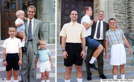 어릴적 사진을 완벽하게 재현한 형제, 자매, 남매들